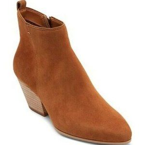 Dolce Vita Womens Pearse Ankle Boots Brown Block